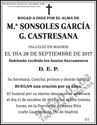 Sonsoles García G. Castresana